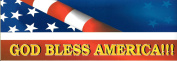 God Bless America !! Car Bumper Sticker 30cm X 10cm