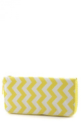 ColorMC Women's Chevron Print Multi Colour Sequin Wallet