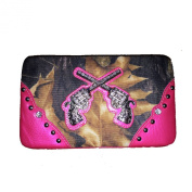 Rhinestone Camou Pistol Women's Clip Wallet. 4 Colros. New with Fast Shipping.