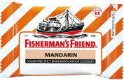 Fisherman's Friend Sugar Free Refreshing Spicy Mandarin Flavour Cough Lozenges, 25g pack,