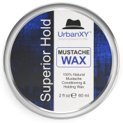 100% Natural Moustache Wax For Men - Keep You Stache Firm And Healthy With The Best 100% Natural Moustache Wax By UrbanXY For Men. BIG 60ml VALUE SIZE! - 100% Gold-Standard.