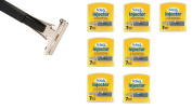 Shave Classic Single Edge Razor Handle with Schick Injector Refill Blades 7 Ct. (Pack of 7) ! Razor Compatible with Schick Injector Razor Blades !