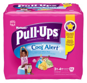 Huggies Pull-Ups Training Pants with Cool Alert, Girls, 3T-4T, 52 Count