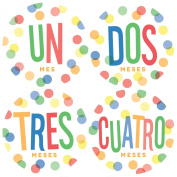 Spanish Monthly Baby Sticker, Monthly Baby Sticker, Dots