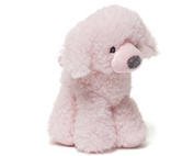 Baby Gund Fluffey Puppy Rattle Light Pink