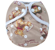 Kawaii Baby One Size Happy Leak-free Snap Cloth Nappy Cover for Prefolds Bear