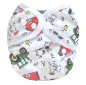 Kawaii Baby One Size Happy Leak-free Snap Cloth Nappy Cover for Prefolds Farm