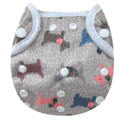 Kawaii Baby One Size Happy Leak-free Snap Cloth Nappy Cover for Prefolds Puppies