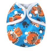 Kawaii Baby One Size Happy Leak-free Snap Cloth Nappy Cover for Prefolds Lion