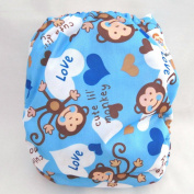 Kawaii Premium Label Organic Bamboo One Size Pocket Nappy, Cheeky Chimp