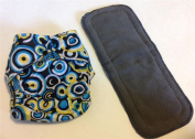 Circles Charcoal Bamboo Pocket Cloth Nappy Nappies Nappy **Insert Included**