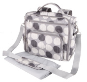 Yodo Mommy Baby Nappy Shoulder Bag Backpack, Grey Polka Dot