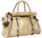 Visnow® Genuine Cow Leather Women's Zipper Satchel Handbag YZ05