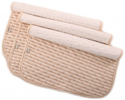 BEIBEIYING Organic Coloured Cotton Baby Urine Pad Pure Cotton Infant Urine Mat Newborn Stripe Changing Pads,Medium