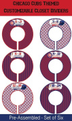 Chicago Cubs Themed Plastic Closet Dividers - Infant Closet Dividers