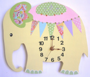 Nursery Clock, Elephant Wall Clock, Nursery Elephant Wall Clock, Nursery Clock, Kid's Room Wall Clock