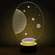 HOCN® Amazing 3D Illusion Bulbing Moon Scene Micro USB LED Night Light Deco Table Desk Lamp