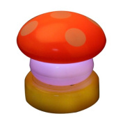 NBellShop LED Colourful Mushroom Press Down Touch Lamp Night Light, Red