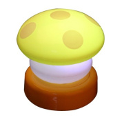 NBellShop LED Colourful Mushroom Press Down Touch Lamp Night Light, Yellow