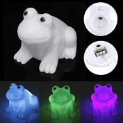 NBellShop LED Cute Frog Night Light Novelty Lamp Changing Colours Light