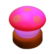 NBellShop LED Colourful Mushroom Press Down Touch Lamp Night Light, Pink