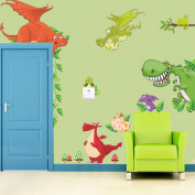 Zooyoo Dragon Dinosaur Removable Vinyl Mural Art Wall Sticker Decal