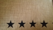 Burlap Black Star Window Valance