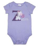 Cuddle Bear Z is for Zebra Purple Baby Girls Bodysuit Outfit