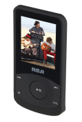 RCA M6504 4 GB Video MP3 Player with 4.6cm Colour Display, Earbuds, Built-In Rechargeable Battery, FM Radio, Voice Recorder, Includes USB Cable