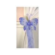 The Butterfly Grove Emily Butterfly Curtain Tieback, Hawaiian Blue, Small, 13cm x 10cm