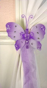 The Butterfly Grove Emily Butterfly Curtain Tieback, Purple Wisteria, Small, 13cm x 10cm