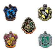 Wizarding World of Harry Potter Hogwarts Miniature Crest 5 Metal Trading Pin Set