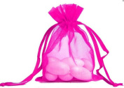 100pcs Hot Pink Organza Drawstring Pouches Jewellery Party Wedding Favour Gift Bags 10cm x 13cm