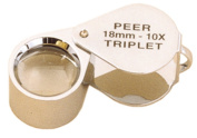 Peer Triplet Loupe Chrome Plated 10X