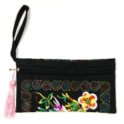 Wrapables Ethnic Embroidered Wristlet Clutch Purse Kit