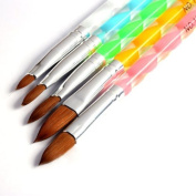 So Beauty 5pcs Nail Art UV Gel Carving Pen Brush Liquid Powder DIY No.2/4/6/8/10