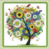 Happy Forever Cross Stitch, scenery, happy life tree 1