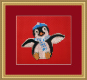 Penguin Christmas Counted Cross Stitch Kit By Orcraphics