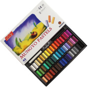 Non Toxic Mungyo Soft Pastel Set of 48 Assorted Colours Square Chalk