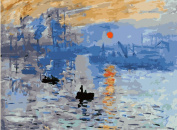 Greek Art Paintworks Paint Colour By Number Kit,Impression Sunrise Paintworks Painting by Claude Monet,41cm by 50cm