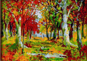 Greek Art Paintworks Paint Colour By Number,Autumn Forest,41cm by 50cm