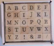 Miniature Uppercase Alphabet Stamp Set - 30 Piece