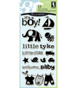 Inkadinkado Clear Stamps, Baby Boy