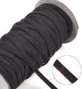 Top Hunter Black 144-Yards Length 0.6cm Width Braided Elastic Cord/Elastic Band/Elastic Rope/Bungee/Black Heavy Stretch Knit Elastic Spool