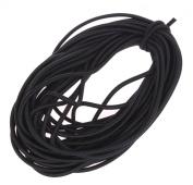 Usew 1/8-Inch (3mm) Black Heavy Stretch Round String Elastic Cord
