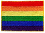 LGBT Rainbow Flag Embroidered Patch Iron-On Gay Rights Emblem