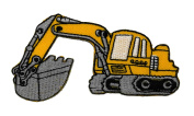Backhoe Rear Actor Back Actor Tractor DIY Applique Embroidered Sew Iron on Patch BH-002
