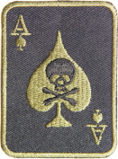 Skull Ace Card Gambling Winner Playing Card Casino Las Vegas Logo Lucky Biker Jacket T shirt Patch Sew Iron on Embroidered Badge Sign Costum