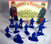 Armies in Plastic Civil War 9th New York Zouaves 20 Figures in Dark Blue Offered By Classic Toy Soldiers, Inc
