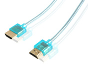 Ysimda Ultra Slim Flexible Series Crystal Colourful EMI and RFI Protetion HDMI 2.0 A to A High-speed Cable, 1.8m, Blue, 18G, Supports Ethernet, 3D, 4K and Audio Return